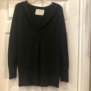 Ann Taylor Loft  Black sweater with hoodie XS